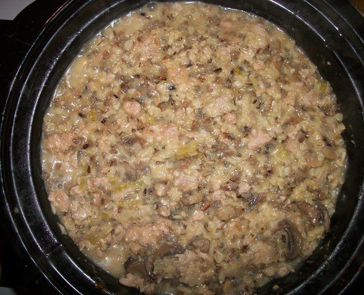 Pork Sausage and Rice Casserole