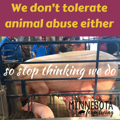 We don't tolerate animal abuse either, so stop thinking we do